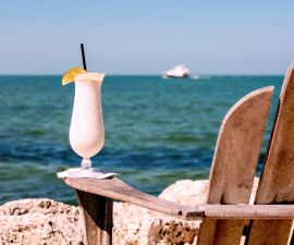 Florida Keys Cocktail with Ocean View