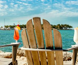 Florida Keys Cocktails with Ocean View